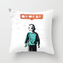Banksy Social Media Street Art Graffiti Throw Pillow
