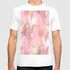 Some Soft Pink Flowers Mens Fitted Tee MEDIUM White