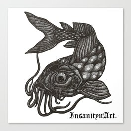 InsanitynArt's, Pointilism, How Koi?  Canvas Print