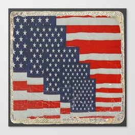 Patriotic Americana Flag Pattern Art Canvas Print