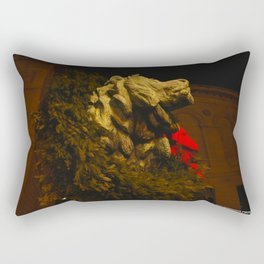 Chicago's Lions in Winter #2 (Chicago Christmas/Holiday Collection) Rectangular Pillow