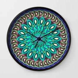 magic circle Bluish-green Wall Clock