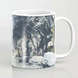 Montreal Snowy winter street Coffee Mug