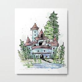 Mouse's Castle Metal Print