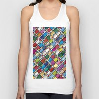 pills Tank Tops featuring Colorful Pills by Sr Manhattan
