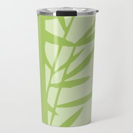 Green Bamboo Drawing Travel Mug