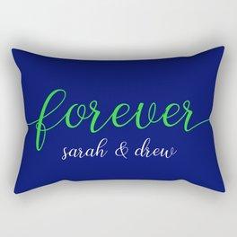 Navy Green - sarah and drew Rectangular Pillow
