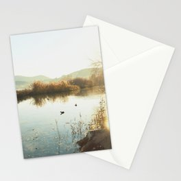 Autumn Lake Tranquility Stationery Cards