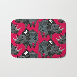rhinoceros red Bath Mat