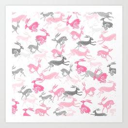 hares everywhere Art Print
