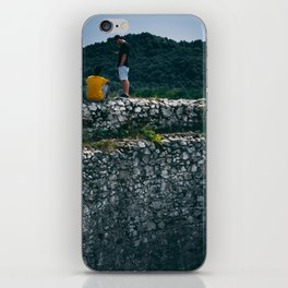 Watching over the wall iPhone Skin