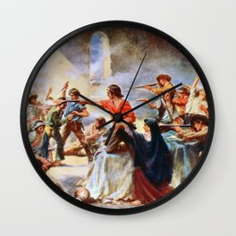 Battle of the Alamo by Percy Moran (1912) Wall Clock