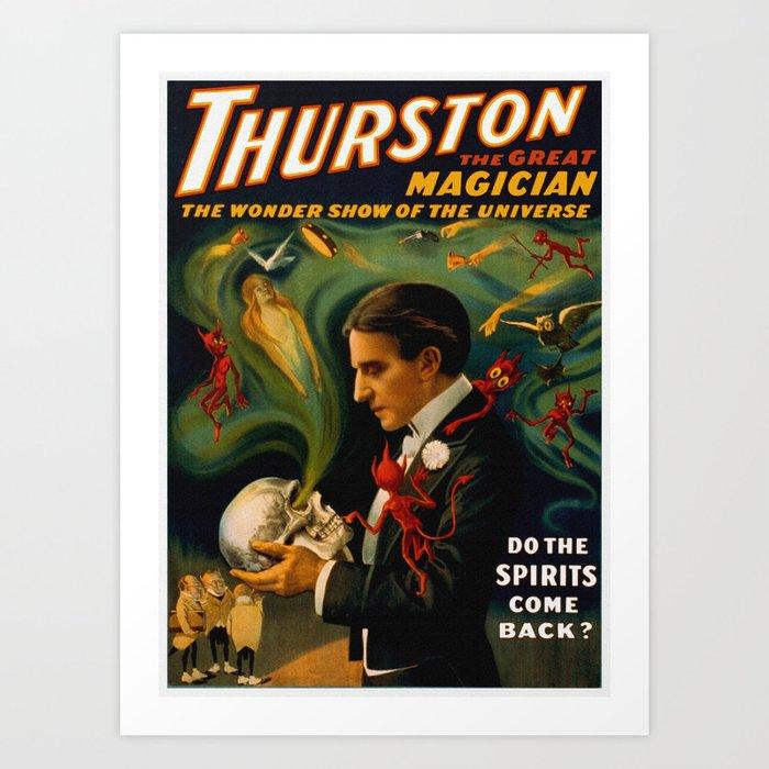 Thurston The Great Magician - Spirits Kunstdrucke