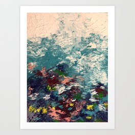 Chasing coral Art Print