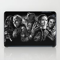 freddy krueger iPad Cases featuring Freddy Krueger Jason Voorhees Michael Myers leatherface Darth Vader Blackest of the Black by Scott Jackson Monsterman Graphic