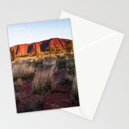 Australian Outback Sunrise at Ayers Rock Stationery Cards