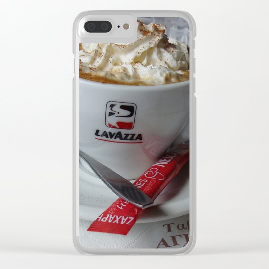 Cup of Joe - Greek Style Clear iPhone Case