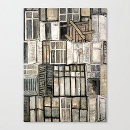 Les anciennes fenêtres  Canvas Print