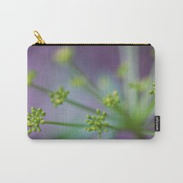 Purple Yellow Blooms Carry-All Pouch