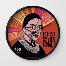 RBG Rest in Power Wall Clock