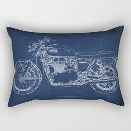 1969 triumph bonneville classic vintage motorcycle christmas gift Rectangular Pillow