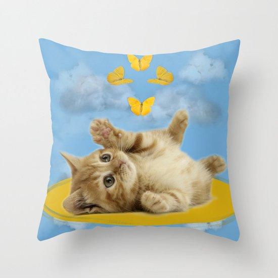 Kitty Wonder Throw Pillow