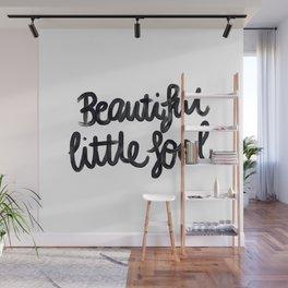 Beautiful little fool - hand script Wall Mural