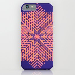 Geometric illusional effect style for home decoration iPhone Case