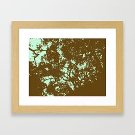 Mint and Brown Forest Framed Art Print