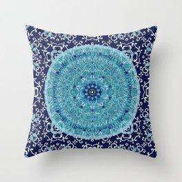 Boho Vine Leaf Mandala Throw Pillow