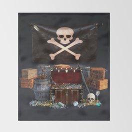 Pirate Treasure Throw Blanket