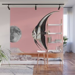 Plenty of fish in the sea Pink Wall Mural