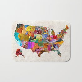 USA Map Bath Mat