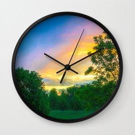 Storm Meets Sunset in Beautiful Light Wall Clock