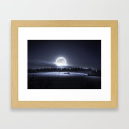 When the moon wakes up Framed Art Print