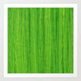 Green Melon Colored Vertical Stripes Art Print