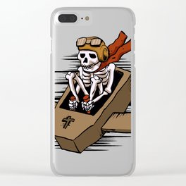 kamikaze  in flying coffin Clear iPhone Case