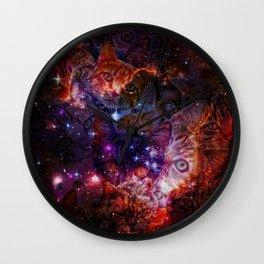 Kitty Galaxy Wall Clock