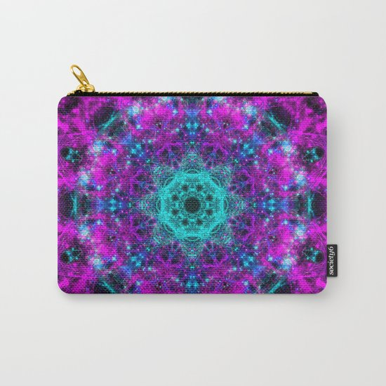 Neon Space Mandala Carry-All Pouch