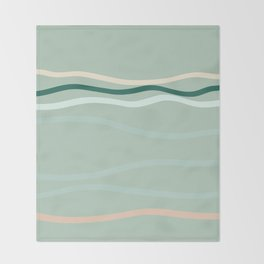 sea is pink Throw Blanket