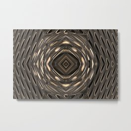 Architectural abstract in four-way symmetry of the Broad, Los Angeles, California Metal Print