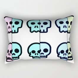 Pastel Goth   Pastel skulls   Pastel Gothic   Gothc skulls   Cute skulls Rectangular Pillow