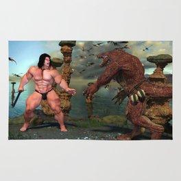 Monsterfight on the isle 2 Rug