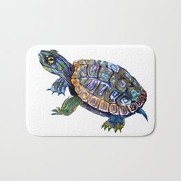 Slider Baby Turtle artwork Bath Mat