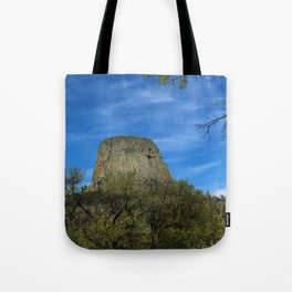 Devils Tower View Tote Bag