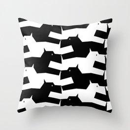 Scottish Terrier Pattern Throw Pillow