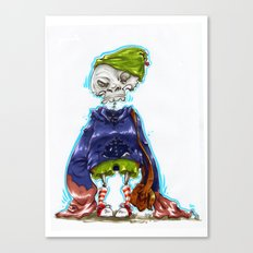 Skinny Skeleton Kid Canvas Print