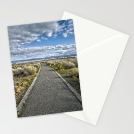 Mono Lake Trail Blue Sky And Clouds Stationery Cards