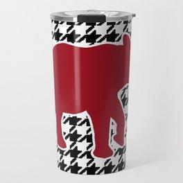 Houndstooth and Elephant Travel Mug