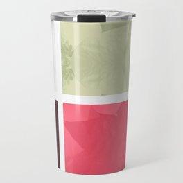 Mixed Color Poinsettias 2 Abstract Rectangles 1 Travel Mug